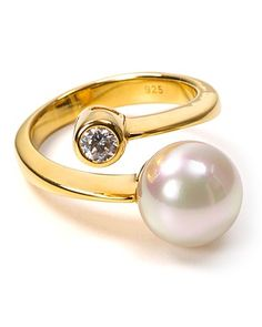 Majorica Gold Sparkle Pearl Ring | Bloomingdale's