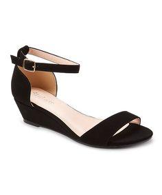 90f1bf19fd6 Styluxe Black Liat Sandal. Wedge HeelsAnkle ...