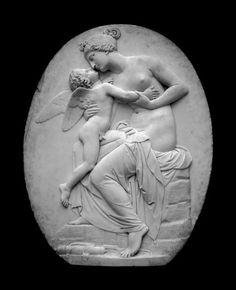 Venus and Cupid Relief. Marble - ca. 1839. Artist/Maker: Gibson, John. The Kiss Keka❤❤❤