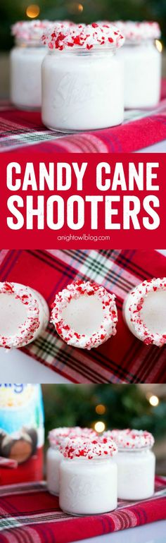Cane Shooters A taste of the holidays in each shot! These Candy Cane Shooters are delicious and can be made with or without alcohol!A taste of the holidays in each shot! These Candy Cane Shooters are delicious and can be made with or without alcohol! Christmas Cocktails, Holiday Cocktails, Christmas Desserts, Christmas Treats, Christmas Baking, Holiday Treats, Holiday Recipes, Christmas Shots, Christmas Candy