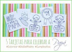 Tarjetas para celebrar a papá #DiaDelPadre #CumpleanosPapa