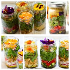Gorgeous Mason Jar Salads