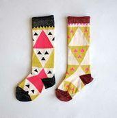 Geo Socks   Cat ♡