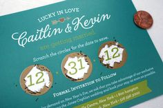 Scratch Off Save the Date Cards and Envelopes by andreaespach
