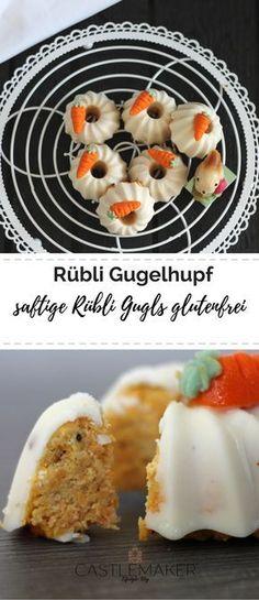 Dieser saftige glutenfreie Rübli Gugelhupf mit Kokosmehl schmeckt nicht nur zu Ostern. Das Rezept für den Karottenkuchen gibt es auf meinem Blog. #ostern #rezept #glutenfrei #gugelhupf