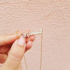 Mermaid Word Necklace