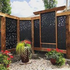 H x 3 ft. W Branch Metal Privacy Screen Backyard oasis privacy screens Design Patio, Pergola Design, Backyard Patio Designs, Backyard Fences, Backyard Landscaping, Landscaping Ideas, Patio Ideas, Landscaping Edging, Garden Design