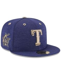 quality design b0f43 96cb9 New Era Boys  Texas Rangers 2017 All Star Game Patch 59FIFTY Fitted Cap -  Blue