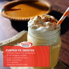 Drinking our Pumpkin Pie Smoothie is like drinking your dessert.