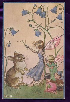 ≍ Nature's Fairy Nymphs ≍ magical elves, sprites, pixies and winged woodland faeries - Molly Brett postcard
