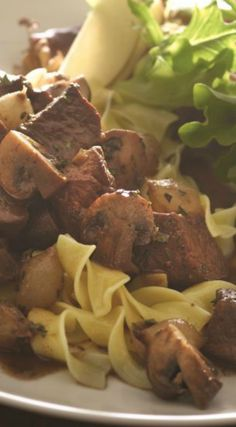 Beef Bourguignon with Noodles Recipe for Shabbat. A great dinner dish for any shabbat.