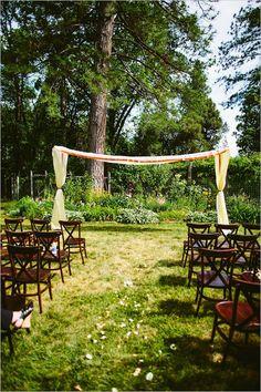 backyard ceremony setup