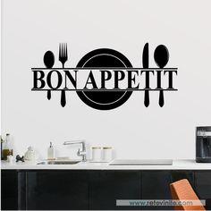 Cocinas - Bon Appetit -  #retovinilo #vinilosdecorativos #vinilos #cocinas #bonappetit