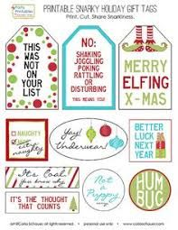 Image result for snarky christmas gift tags free download