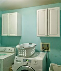 How to install upper cabinets, the laundry room is officially a construction zone! • Our House Now a Home