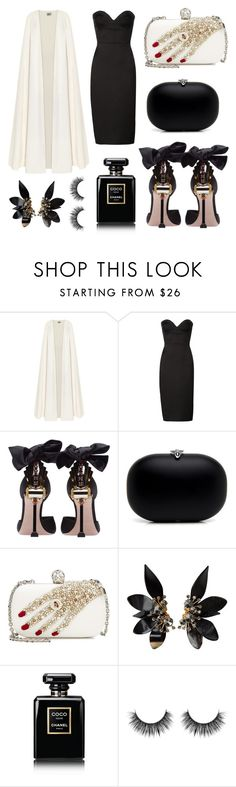 """Gala night in Cannes"" by fashionholli ❤ liked on Polyvore featuring La Mania, Victoria Beckham, Miu Miu, Alexander McQueen, Marni and Chanel"