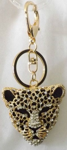 Animal Women's Key Chains, Rings and Finders Button Click, Leopard Purse, Key Chains, Swagg, Key Rings, Charms, March, Menu, Bling