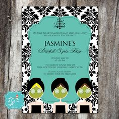 Breakfast at Tiffany's Spa Invitation Birthday by AFlairForPaper