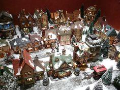 Dickens' Village for my Grandma Bette Department 56 Christmas Village, Christmas Village Display, Christmas Town, Christmas Villages, All Things Christmas, Christmas Tree Decorations, Vintage Christmas, Christmas Holidays, Xmas