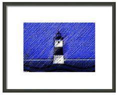 Seascape Artists International: Beacon in the Rain Ocean Seascape Lighthouse Maritime Art Print by Oregon Coast Artist Lisa McKinney