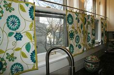 Placemats as window coverings? might work for a small door window