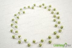 Follow the easy jewelry crafts ideas to make an adorable and amusing pearl necklace and earring set. Only the necessary pearl beads and assistive pins are needed. You may love the pattern so much!
