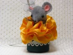 Miss Marigold Mouse is a great addition to any Garden Flower or Mouse Collection. See this and more at:   http://www.artfire.com/ext/shop/studio/MumseysMouseHouse