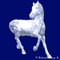 "Horse - Trigger Landscape Sculpture. Animal Sculptures̴Ì_made of cast aluminum that are light weight and are weather resistant year round. Finishing options are endless to customize your piece. We recommend Rust-Oleum® spray products at your local hardware store. Please allow approximately 3-4 weeks for custom orders before shipping.  Dimensions:  Length: 57"" Width: Height: 55"" Weight: 176 lbs."