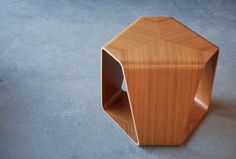 Murai Stool designed by Reiko Tanabe in 1966. Made out of teak plywood.
