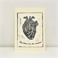 """Mi piace"": 64, commenti: 3 - labLumière • Illustrator (@laboratoire_lumiere) su Instagram: """"The heart has its reasons"" • linocut print // #linocut #linocutting #linocutprint #handmade…"""