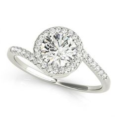 Diamond Bypass Engagement Ring 0.65 ct