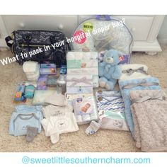 The Sweet Little Southern Charm by Tara Miller diaper bag what to pack in your babies diaper bag for the hospital blog... baby necessities hospital bag diaper bag bringing home baby
