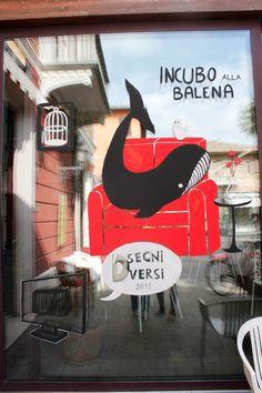 Incubo alla Balena per VETRINE DIVERSE  @ Disegni Diversi IIed http://www.disegnidiversi.com/news/vetrine-diverse-live-painting/