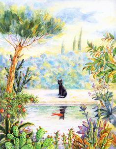 Morning in the Garden. Aliona Bereghici Illustration