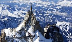 Aiguille du Midi, cable car ride from Chamonix, France
