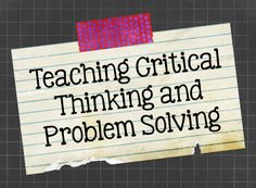 """critical thinking resources for teachers Critical thinking, creativity, communication, and collaboration –- otherwise known as the """"4cs"""" -- are four skills that teachers, researchers, and employers."""