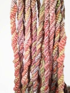 Bruises Coil Boil Art Yarn Handspun 13 yards 4.4 oz