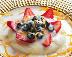 Lemon Glazed Fruit and Custard —Raw Food Rawmazing Raw Food