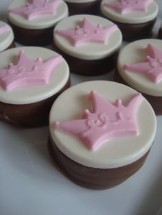 12 Chocolate Oreo Cookies Princess Tiara Crown Party Favors Candy Sweets Pink Diva Birthday Bridal Bachlorette