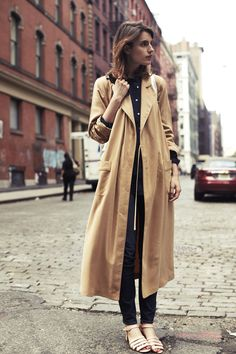 Trench with those shoes.