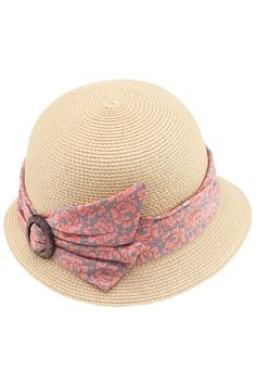 Belted Apricot Straw Hat $27.99