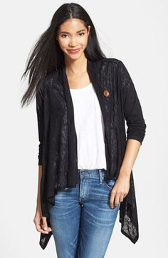 Bobeau+One+Button+Asymmetrical+Cardigan+(Regular+&+Petite)+available+at+#Nordstrom