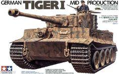 German Tiger 1 Mid Production Tamiya kit instruction - scale (No.