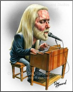 Gregg Allman Limited Edition Celebrity Caricature by Don Howard by DonHowardStudios on Etsy by leigh Funny Caricatures, Celebrity Caricatures, Pop Rock, Rock N Roll, Cartoon Art, Cartoon Characters, Musica Pop, Heavy Metal Art, Caricature Drawing