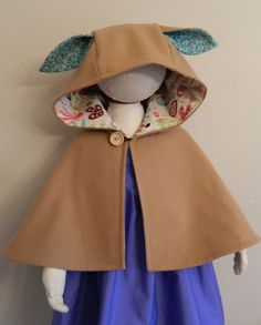 Bunny cape toddler cape girls cape childrens by Forgoodnessake, $45.00