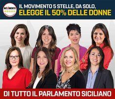 Il 50% delle donne elette al Parlamento siciliano sono del MoVimento 5 Stelle #VotoLibero