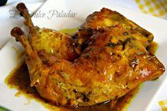 Muslos de pollo a la sidra con majado de ajo y perejil - Eureka Recetas Pollo Chicken, Tandoori Chicken, Chicken Wings, Spanish Food, Spanish Recipes, Barbacoa, Canapes, In The Flesh, Poultry