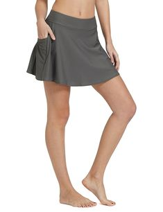 ce91a40d8b615 Women's High Waisted Swim Skirt Bikini Tankini Bottom With Side Pocket -  Grey - C918984Z2R5,Women's Clothing, Swimsuits & Cover Ups, Bikinis,  Bottoms #women ...