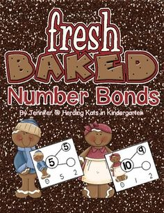 This is a fun math activity for learning number bonds, Students use clothespins to mark the correct whole or part to complete the number bond. If you place a small sticker on the back of the card behind the correct answer this becomes a self-checking activity!