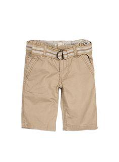 Pumpkin Patch - shorts - shorts with stripe belt - S4TB50003 - crockery - 12-18m to 6